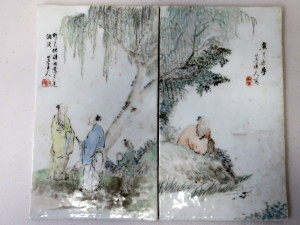 Chinese Antique Painted Porcelain Plaques Sold $7000+BP