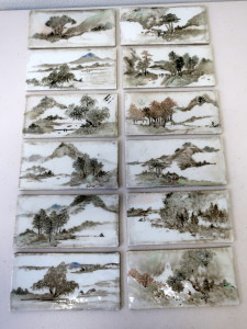 Chinese Antique Painted Porcelain Plaques Sold $3200+BP