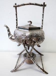 Chinese Woshing Silver Teapot Sold $2600+BP